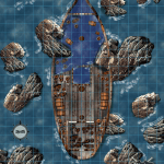 Encounter 7-B Shipwreck GM and Player Map