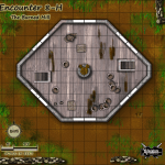 Encounter 8-H The Burned Mill GM and Player Map