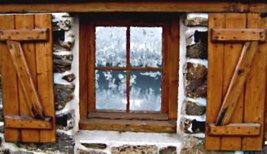 baroness grandaj's estate - frosted window