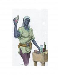 Drow Male Alchemist