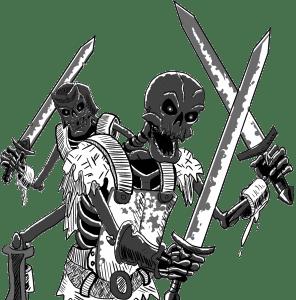 B&W Skeleton Warriors
