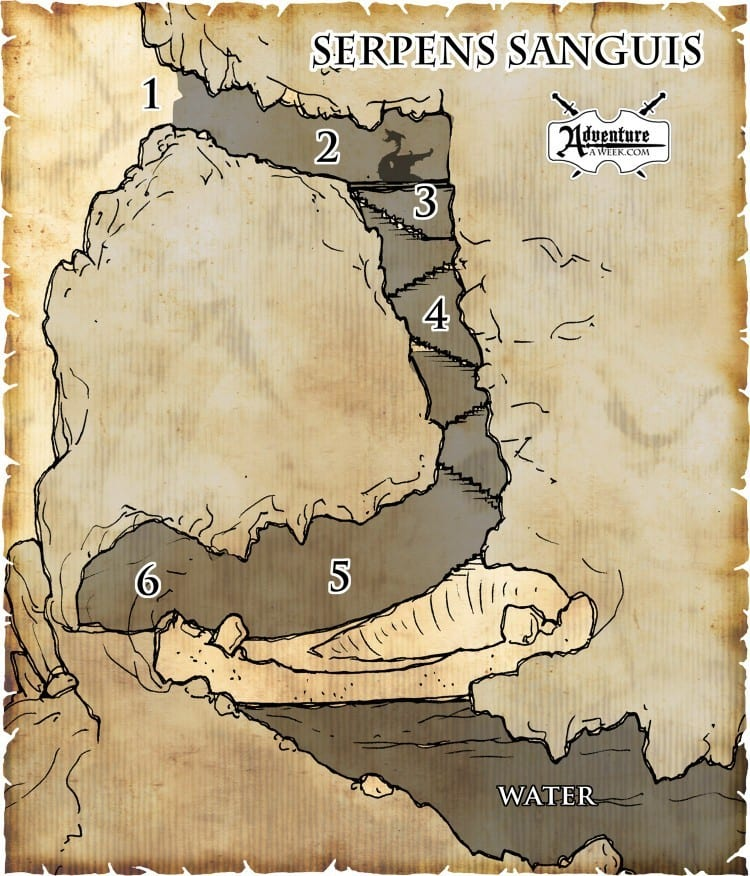"Map from ""Serpens Sanguis"" available in SIDE QUESTS - VOLUME 1"