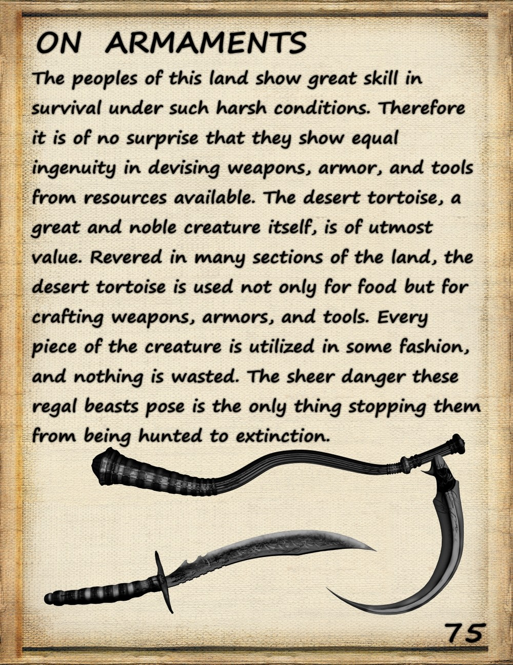 pilgrim's guide armaments