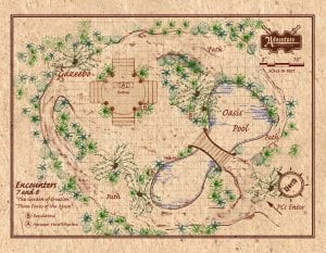 Encounters 7 and 8 - The Oasis - GM Map - full page-landscape