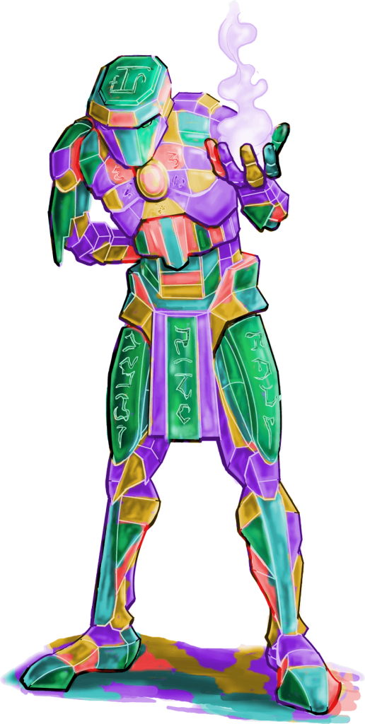 Stained Glass Golem