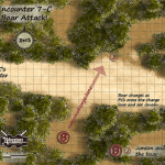 Encounter 7-C Boar Attack GM MAP
