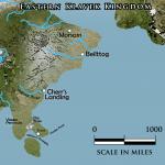 Klavek Kingdom eastern region overland map