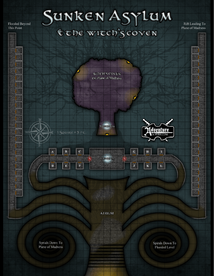 Sunken Asylum Map - justin andrew mason [reduced]