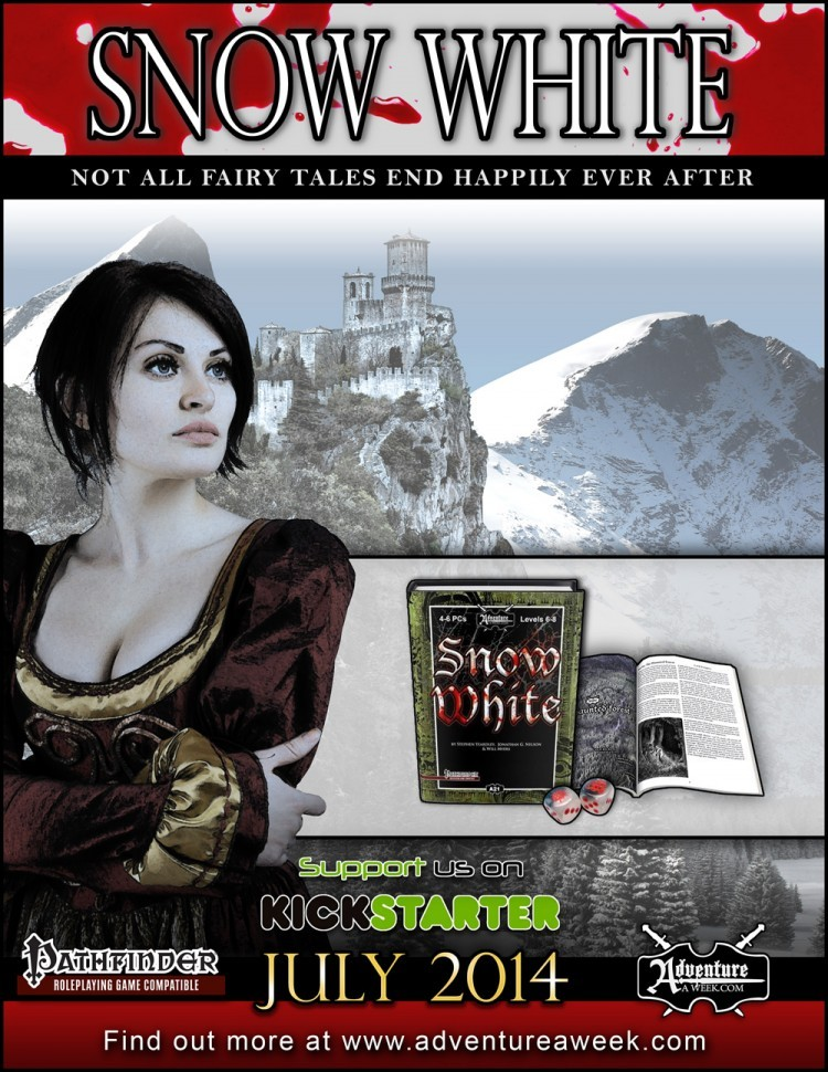Layered Full Page Snow White Ad