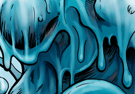 Blue-slime-dripping