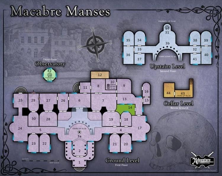macabre manses map