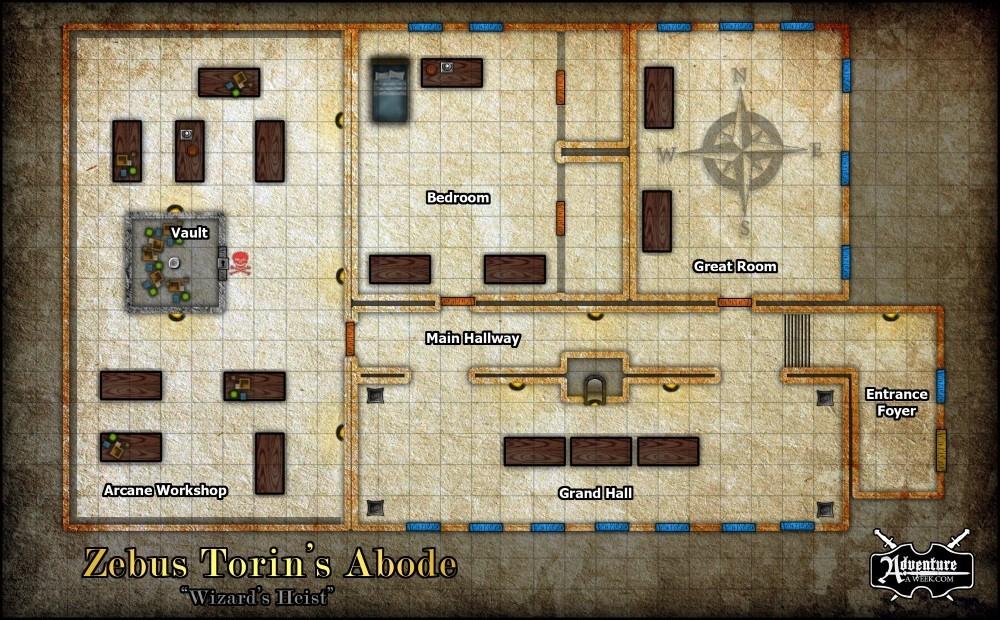 Wizard Heist map