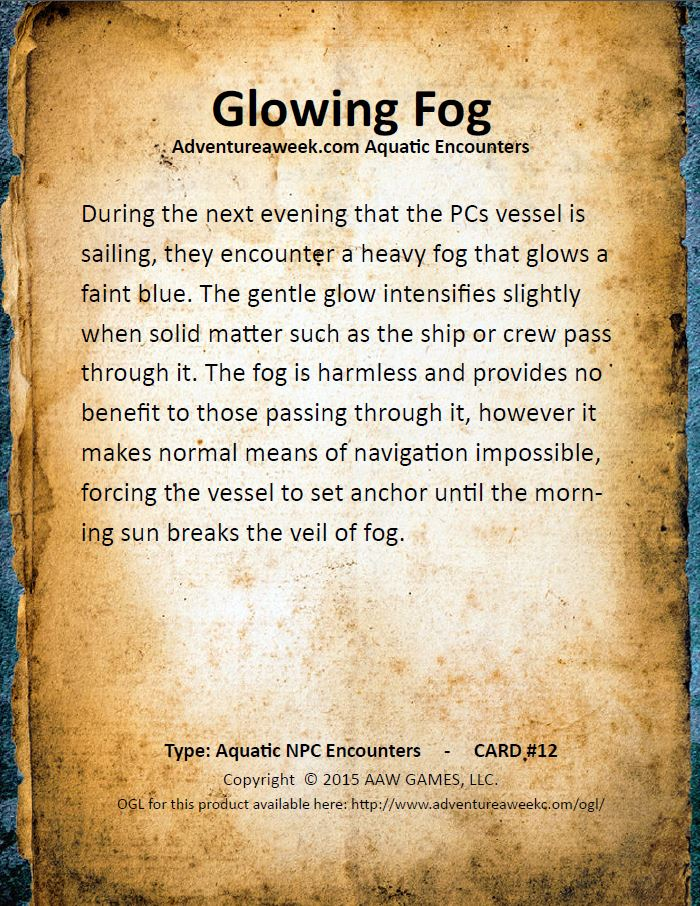 aquatic encounter deck 12
