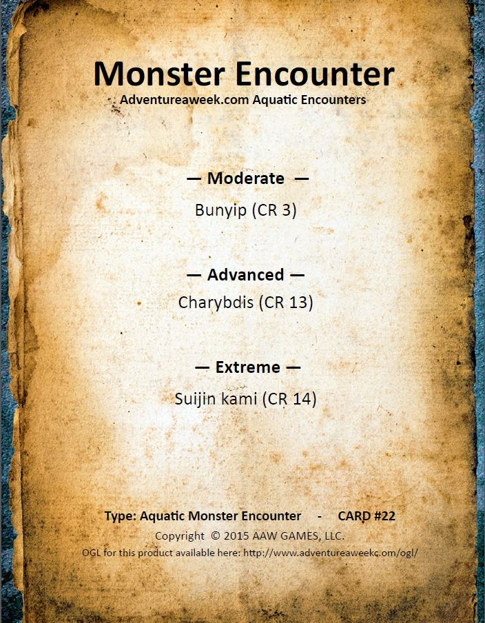 aquatic encounter deck 22