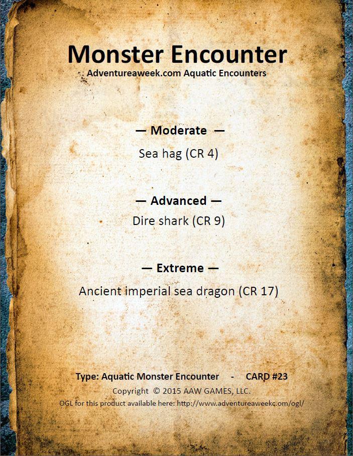 aquatic encounter deck 23