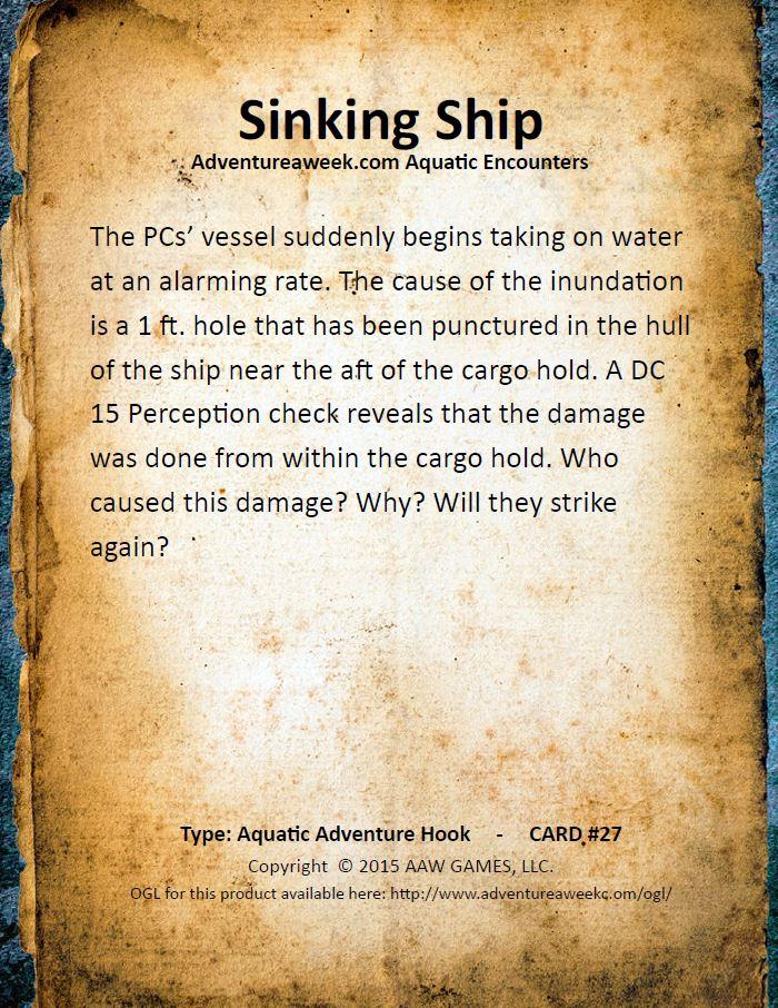 aquatic encounter deck 27