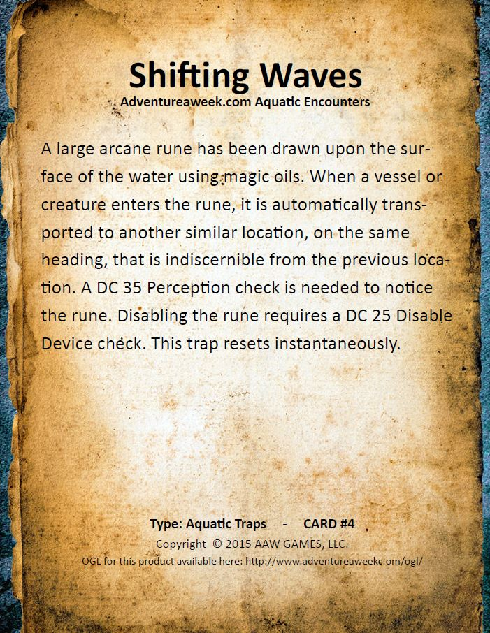 aquatic encounter deck 4