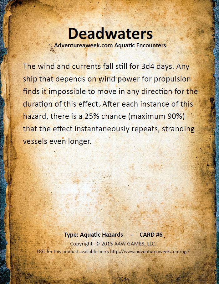 aquatic encounter deck 6