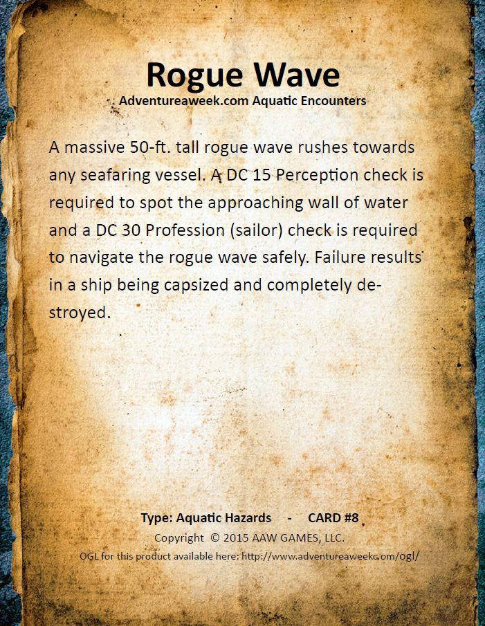aquatic encounter deck 8
