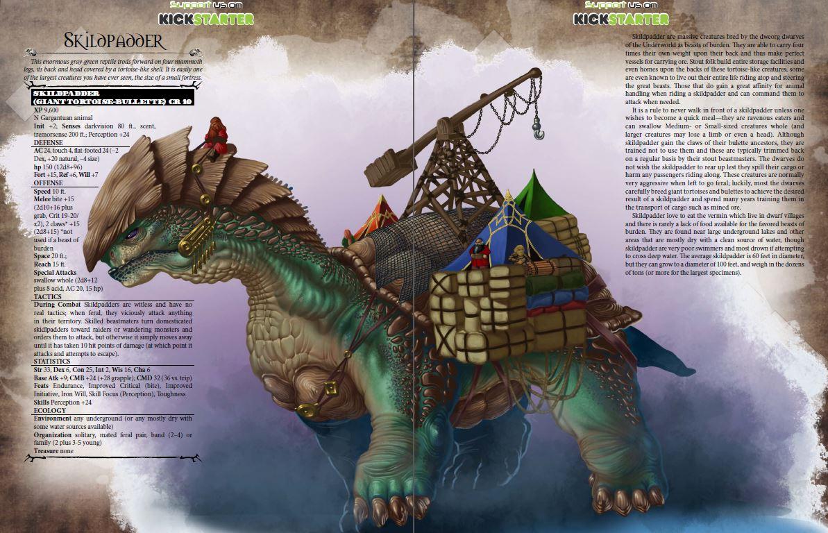 aventyr bestiary preview 2 - skildpadder