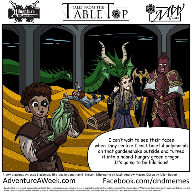Winning Caption for Tales from the Tabletop #27.