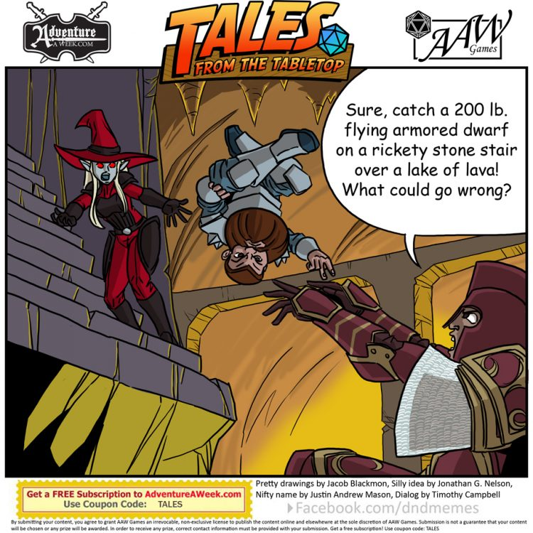Caption for Tales from the Tabletop #46.