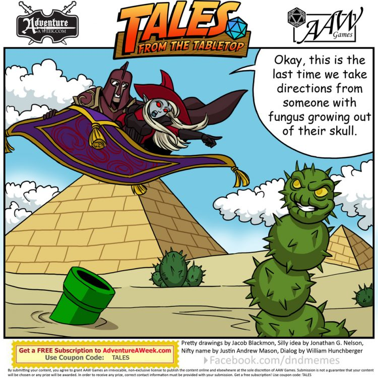 Caption for Tales from the Tabletop #44.