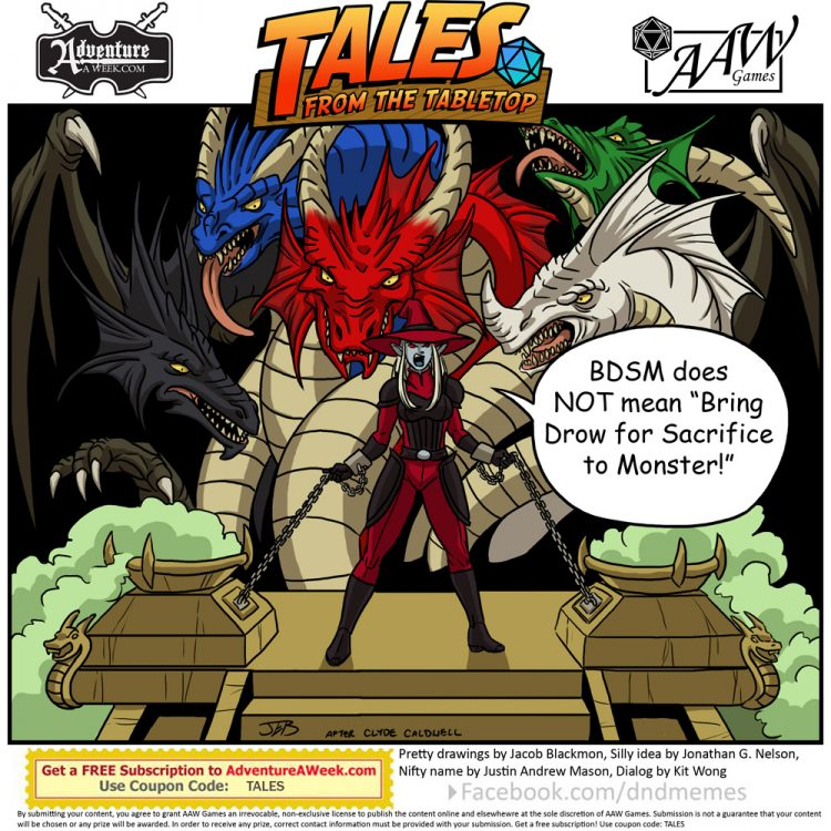 Caption for Tales from the Tabletop #52.