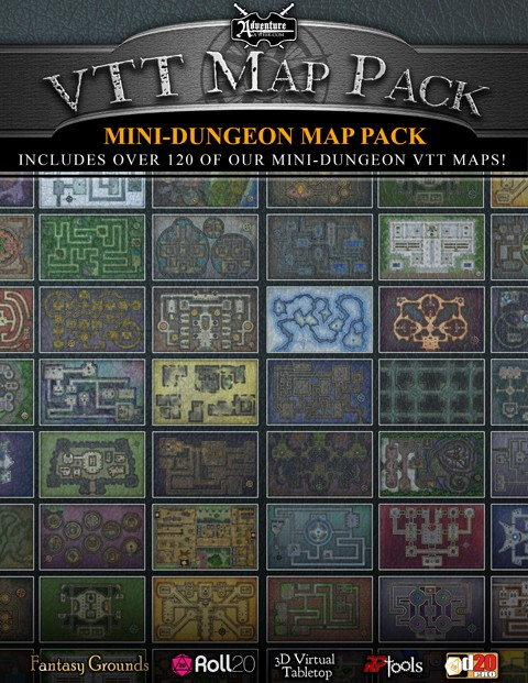 Vtt Map Pack Mini Dungeon Map Pack